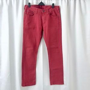Bullhead Red Skinny Skater Denim Jeans / Pants